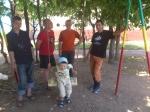 Установка качелей в дет. саде. 27,07,2011